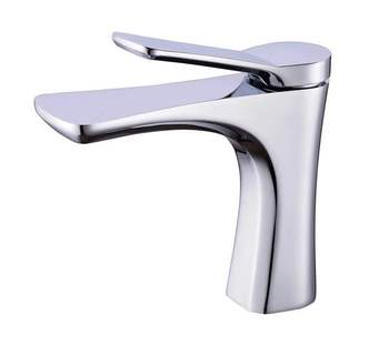 Chrome Plating Brass Deck Mounted Basin Mixer / Faucet