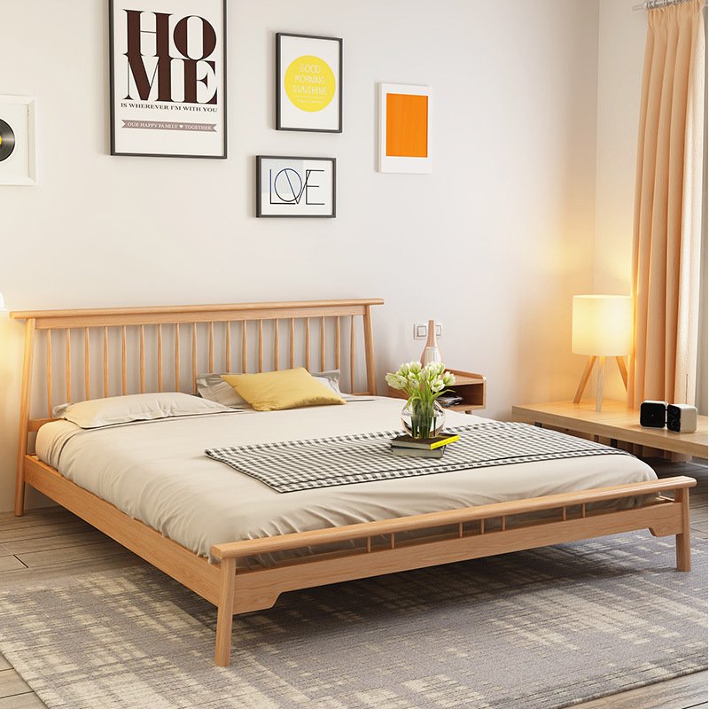product-BoomDear Wood-Hot selling solid wood bed bedroom wooden bed designs solid wood bed frame mod