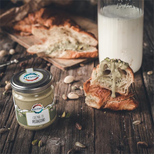 Pistachio Butter Cream in glass jar 190gr (Sicily - Italy)