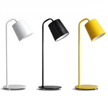 Metal Colorful shade Simply Modern Desk Table Lamp For Reading Room