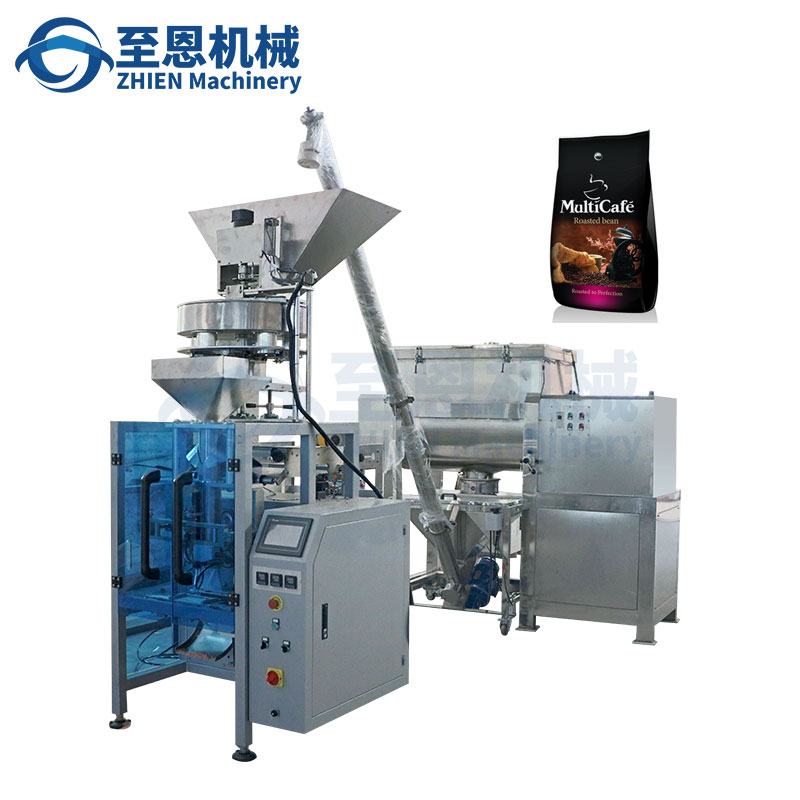 Automatic one-way valve gusset bag coffee bean packaging machine