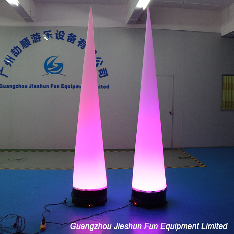 High Quality Cheap Price Led Light Air Cones Inflatable Led Tube For Decoration