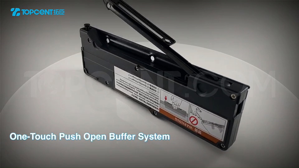 TOPCENT wholesale handle-free one touch push open buffer system for cabinet