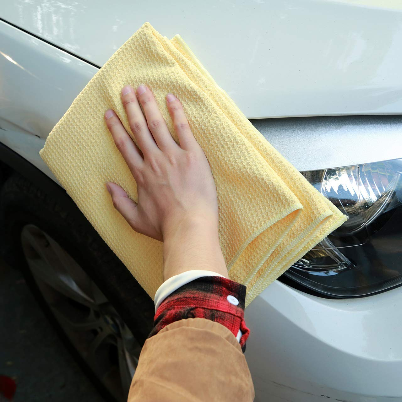 Car Wax Detailing Microfiber Pineapple Drying Towel
