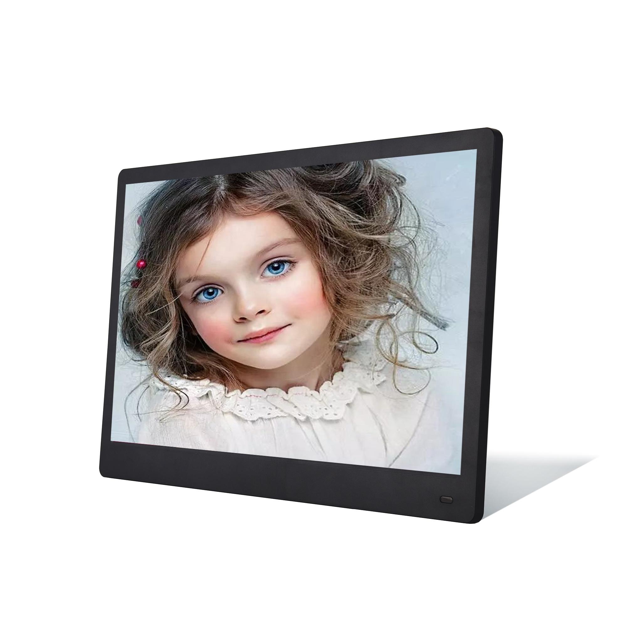 סופר דק 1920x1080 IPS 15 אינץ lcd תמונה דיגיטלית תמונה מסגרת עם וידאו לולאה
