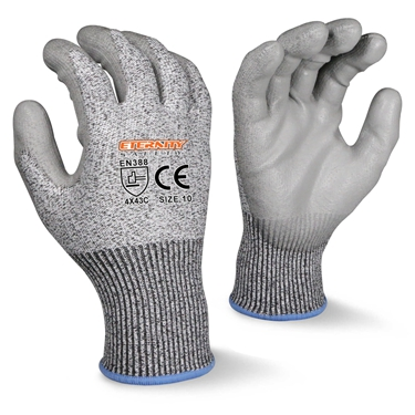 13 15Gauge อุตสาหกรรมอะคริลิคความปลอดภัยการทำงานทำงานถุงมือ