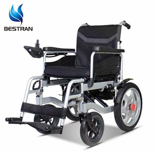 BT-XW15 economic prices of wheel chair foldable power handicapped motorized electric folding wheelchair