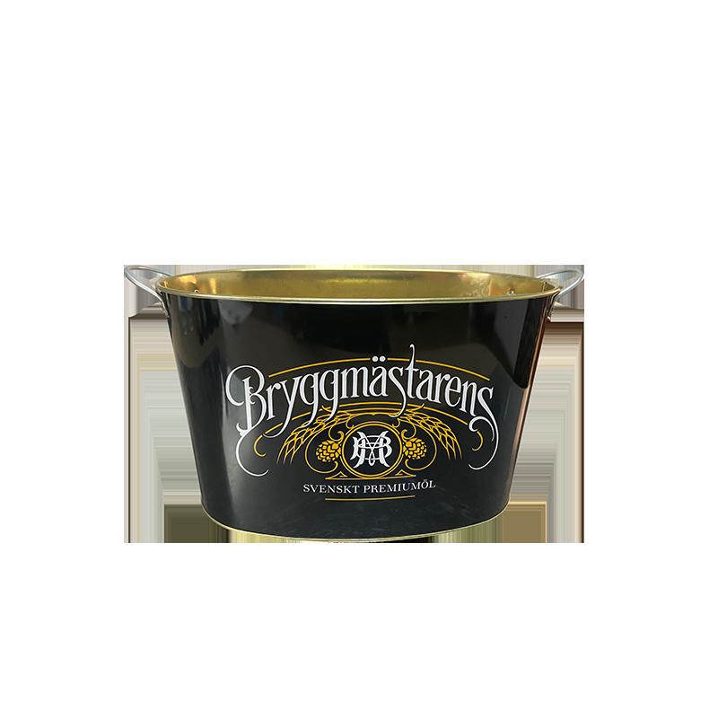 tin beer bucket,custom beer buckets, ice bucket  with two fixed handles