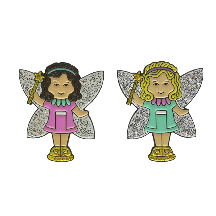 wholesale custom your design hard enamel butterfly clasp angel lapel pin