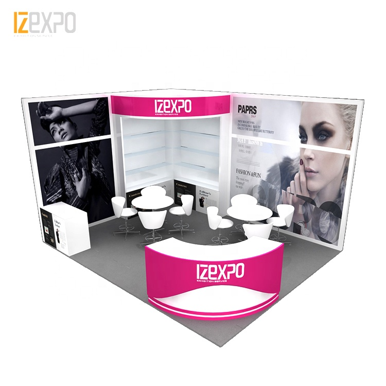 IZEXPO 15mins quick build cosmetics Modern portable dome exhibition <strong>stand</strong> trade show <strong>booth</strong>