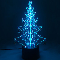 2020 Electronic products Christmas Tree Decoration Acrylic Led Lighting Tree Unique Christmas Gift corporate promotional gift
