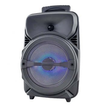 8 inch trolley outdoor party portable bluetooth speaker with led display
