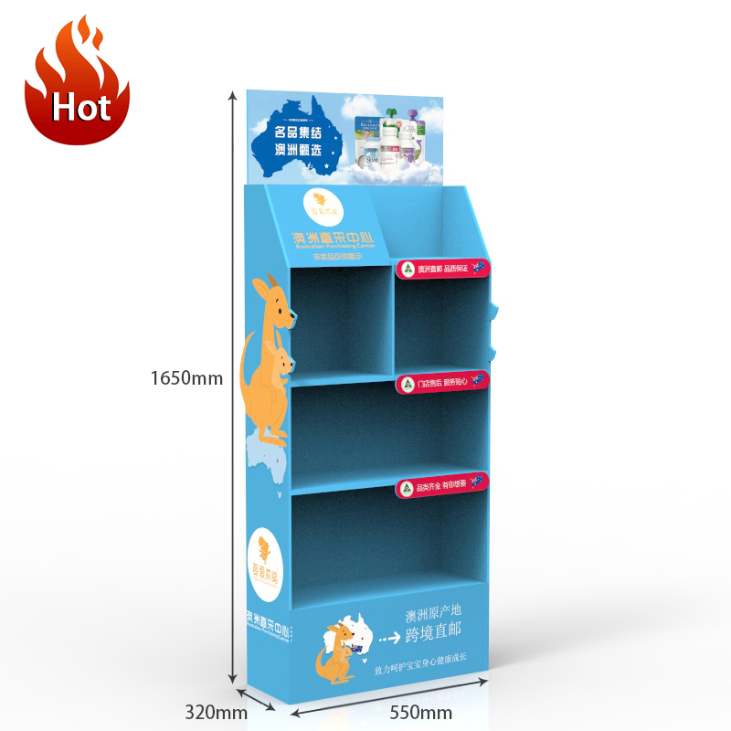 Advertising Pop Air Freshener Product Display Shelve Pos Cardboard Perfume Floor Display Stand for Supermarket &amp; <strong>Retail</strong>