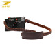 Custom braided rope genuine leather camera neck strap