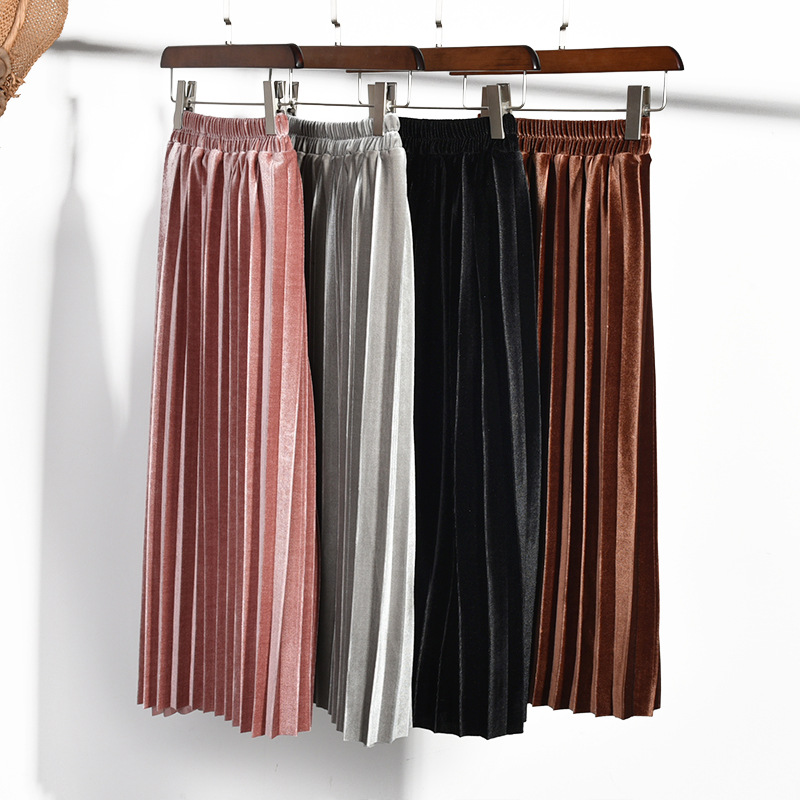 Ivy11001A <strong>Fashion</strong> clothing <strong>kids</strong> girls elastic waist maxi skirt long pleated glitter dress skirt