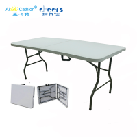 Quick Shipping 6ft Plastic Camping Folding Table Outdoor hdpe Picnic Table Ready to Ship