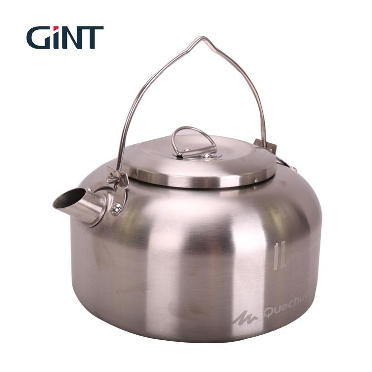 Stainless Steel Camping Teh Cokelat Kehitaman Air Ketel Drip Pot dengan Pegangan