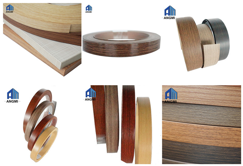 Finishing Furniture Bahan Kayu/Solid Color/Tinggi PVC Glossy Tepi Banding/Edging Tape/Tapacantos