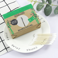 200pcs ear cleaning cotton swabs bamboo/wooden stick cotton bud