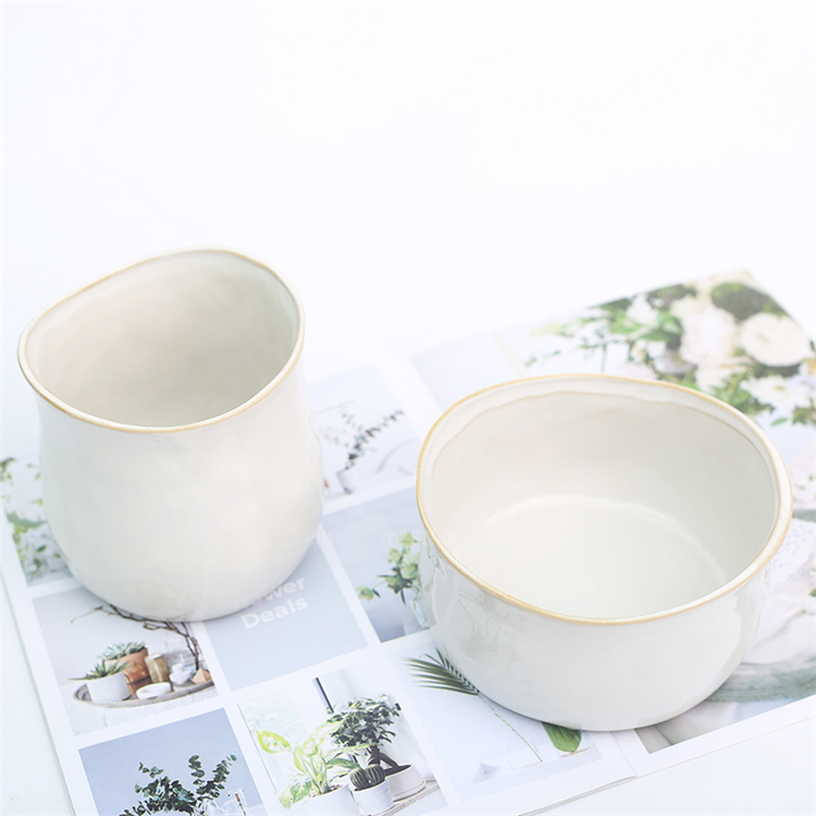 China supplier custom logo outdoor green plant porcelain flower pot for garden