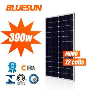 Bluesun mono solar panels A class wholesale market in America Europe Asia free shipping cost quick delivery