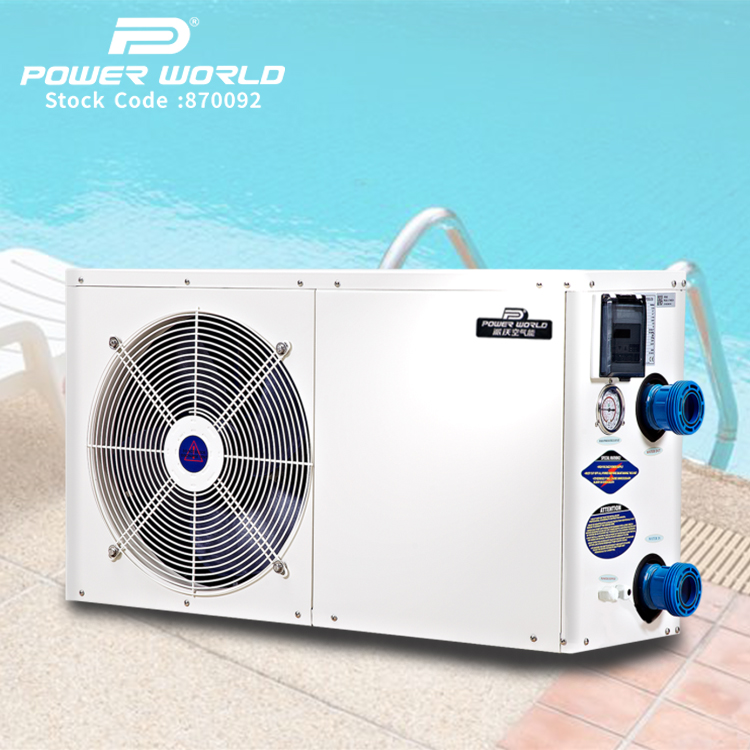 Eco-friendly electric pool heater R410a gas swimming pool heat pump with wifi control