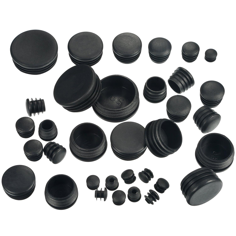 Rubber Silicone Black Round Plastic Plugs Glide Insert End
