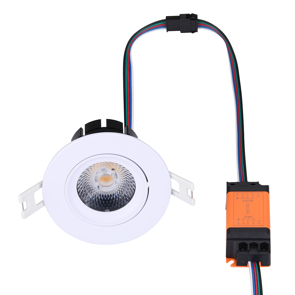 New black white shell 8W Tunable white led spot light, cct changing  led downlight 24V loxone pwm dimming  system