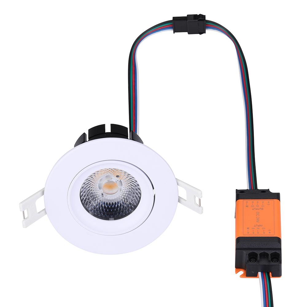 New black white shell 8W Tunable white led spot light, cct changing  led downlight 24V loxone pwm dimming  system