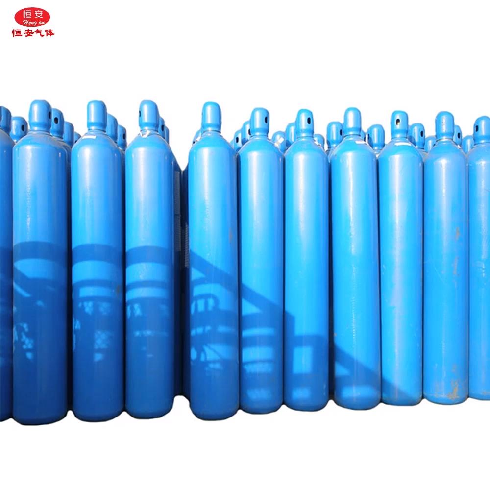 Hengan Factory Tangki Oksigen Medis, Tangki Gas 40Liter 150Bar Tanques De Oxigeno 99.999% Kemurnian