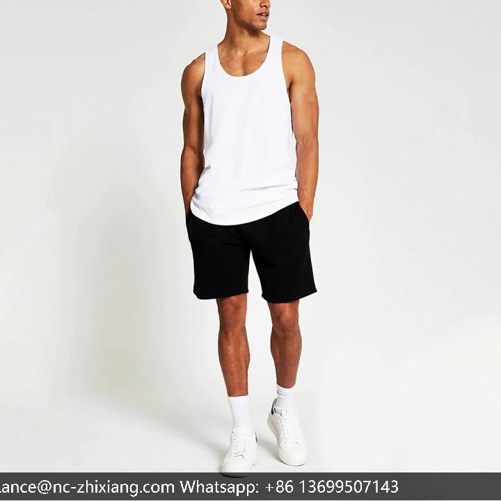 สีขาวการบีบอัดเสื้อผู้ชายstringerเพาะกายเสื้อกั๊กผ้าฝ้ายTank Top Men Fitness GYM Men's TANK Tops