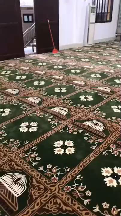 Rouleau de grande taille tissé wilton mur à mur tapis de prière de mosquée