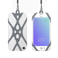 Universal Cell Phone Lanyard Silicone Neck Strap For iPhone 12 Pro Max,accept customize design and printing