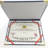 PU Leather Diploma Gold Printing Logo School Certificate Cover