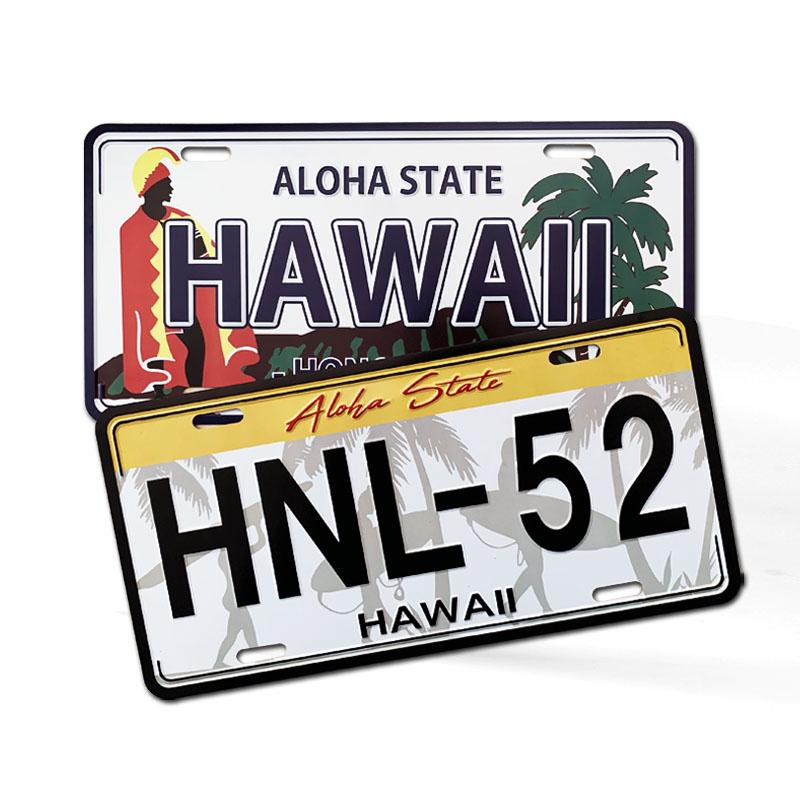 High Quality Custom Logo Embossed Aluminum Car License Plate Metal Car Number Plate for Souvenir