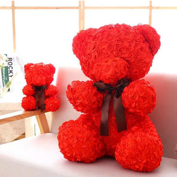 New 40cm artificial rose bear best selling decorative gift box with novel style