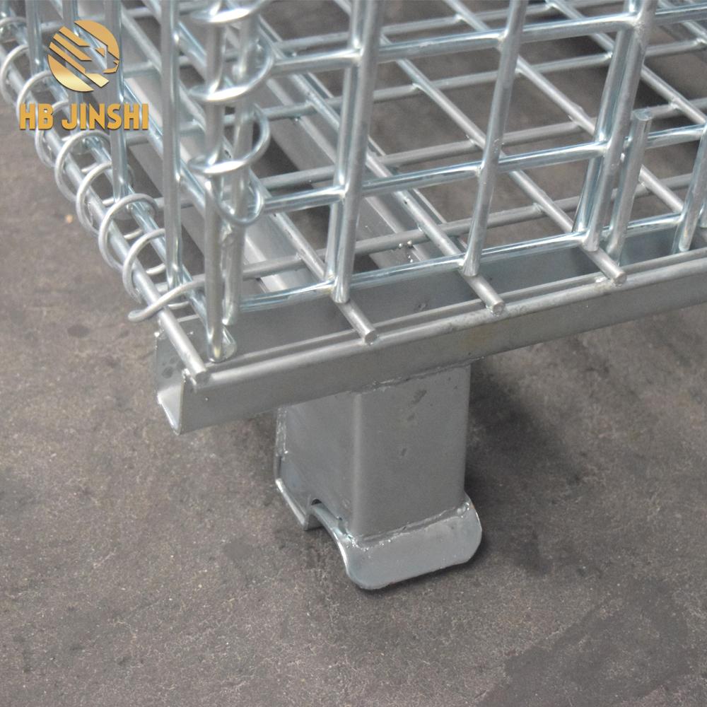1200x1000x890mm Galvanized Welded Metal warehouse storage folding cage