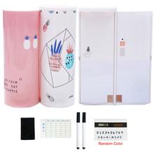 Творческая большая емкость пеналы для мальчиков девочек школьная Канцелярия; карандаш коробка многофункциональный с зеркалом калькулятор(Китай)