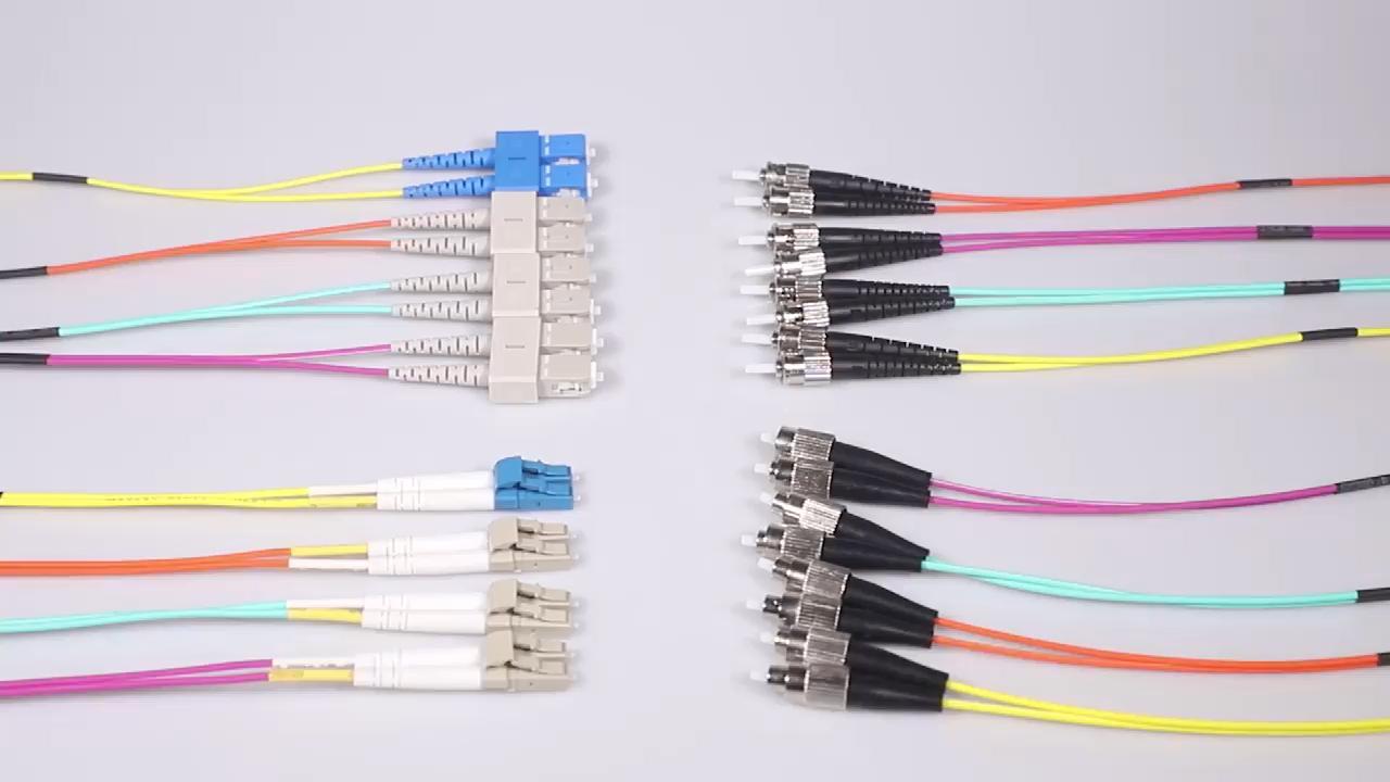 SC LC ST FC MTRJ SMA905 simplex duplex fiber optic patch cable