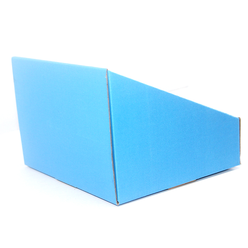 Disposable corrugated folding display box color printed
