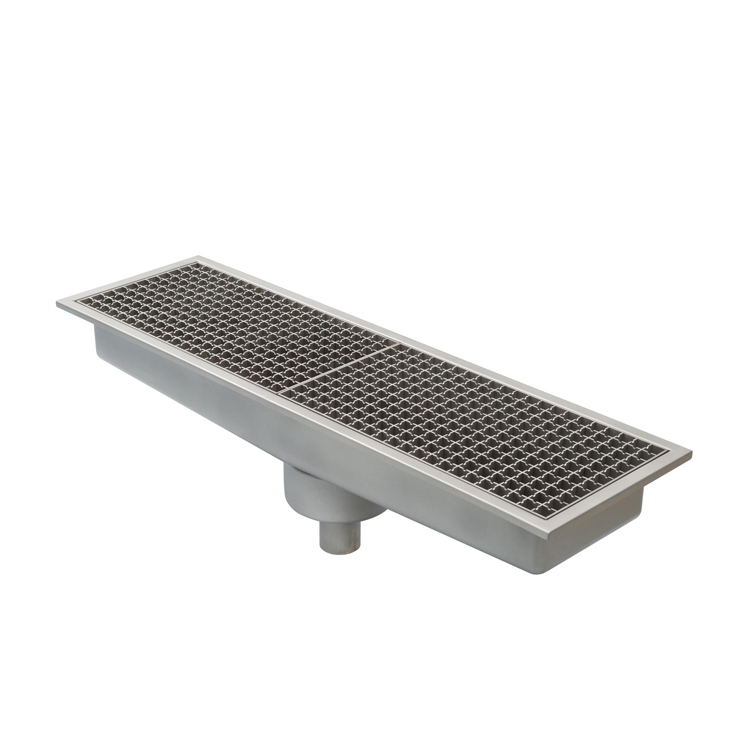 Advanced Commercial Kitchen Floor Drains With Vertical Outlet Stainless Steel Linear Tile Insert Floor Drain
