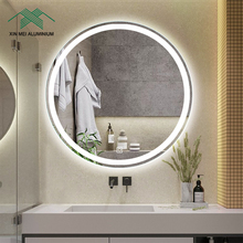 Led Badkamerspiegel Wandmontage Smart Ronde Touch Sensor Hotel Woonkamer Cosmetische Make-Up <span class=keywords><strong>Spiegel</strong></span>