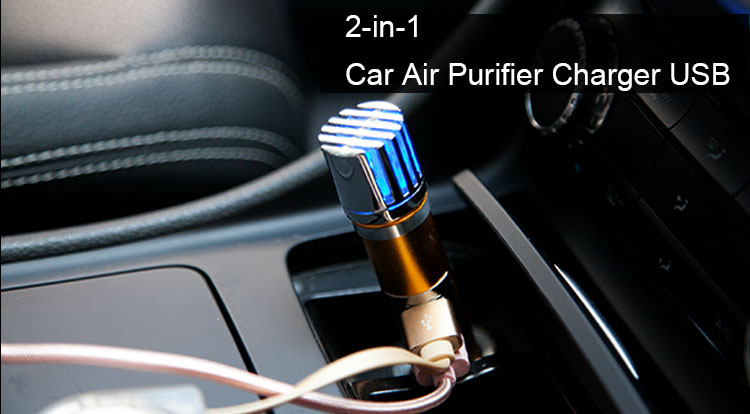 2020 Newest Generation 12V Mini Ionizer Portable Auto Ionic Car Air Purifier GP-9271D