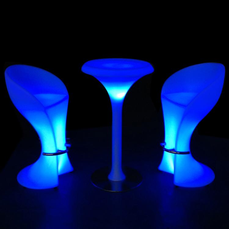 Rechargeable LED bar furniture/wholesale illuminated led lighting table