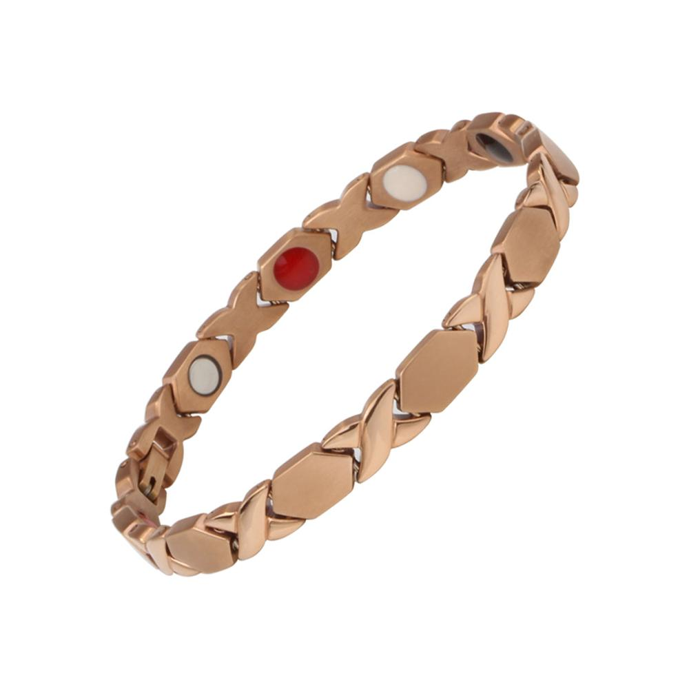 Fashion Stylish Titanium Bracelet Full Magnets Or 4 In 1 Accept Custom Colors Bangle Bracelet Women