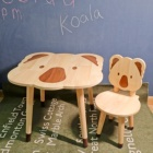 Kids Furniture Kids Table And Chair Set Koala Table Chair Set Solid Wood Kids Furniture Separate Sale Acceptable