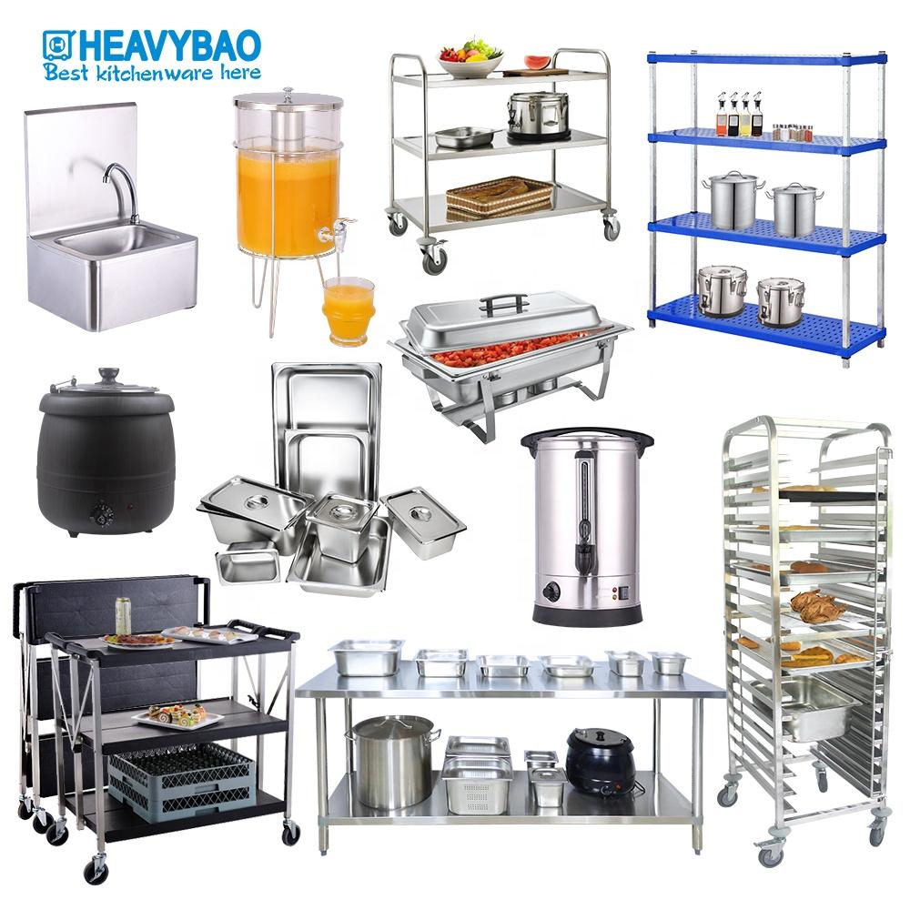 Heavybao 3 Tier Restaurant Kitchen Plastic Service Folding Food Trolleys carts