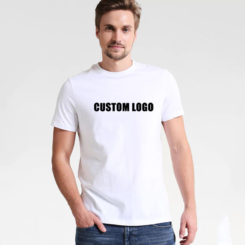 Wholesale China Customized Classic Round Neck Short Sleeve Blank White Plain Custom Printing T <strong>shirts</strong>