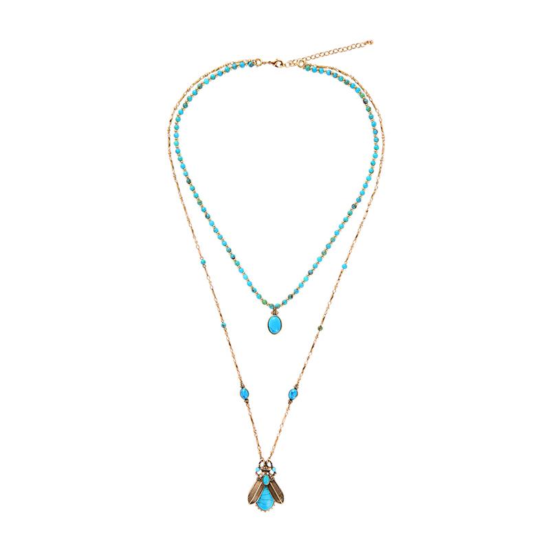 xl00909 Moda Bijoux Luxury Crystal Gemstone Resin Flowers Jewelry Women Fashion Vendor Chunky Statement Necklace