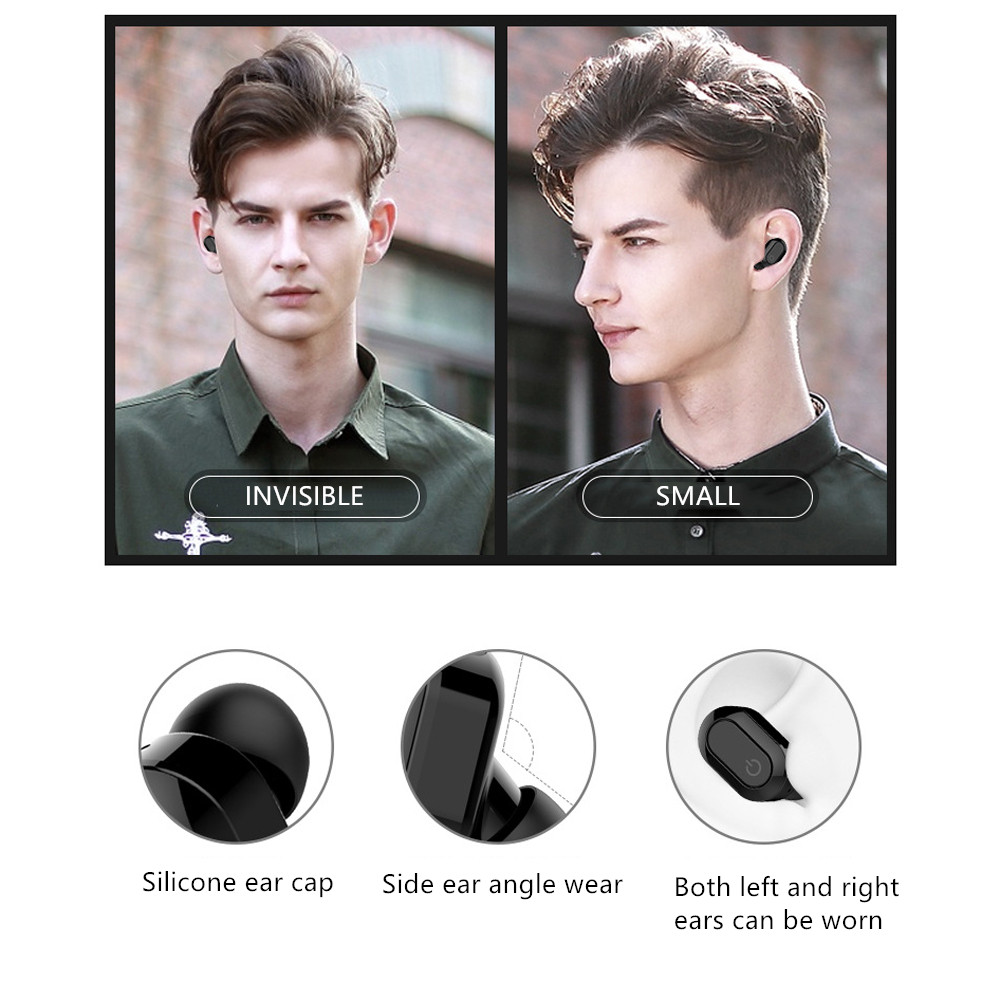 Explosion models ultra small invisible mini micro running sports wireless headset music stereo earplugs